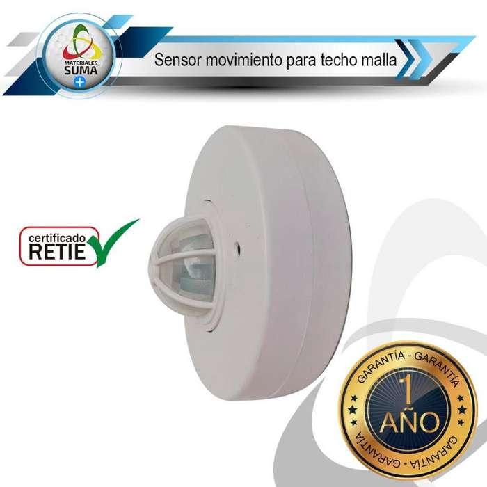 sensor de movimiento para techo (sensor tipo malla) con factura