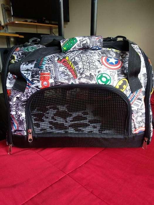 Maleta Morral Guacal Para Gatos, Perro Y Mascotas