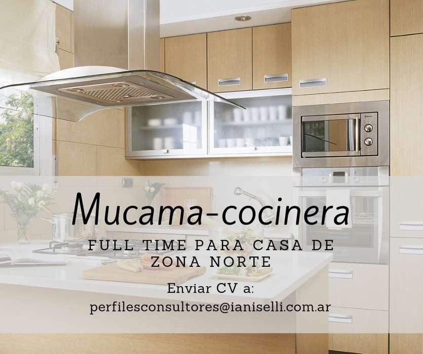 Mucama - Cocinera (con cama adentro)