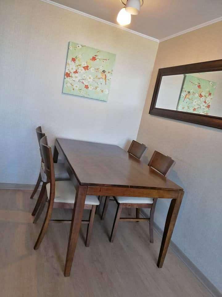 Juego de Comedor de Madera 6 sillas; estilo moderno ...