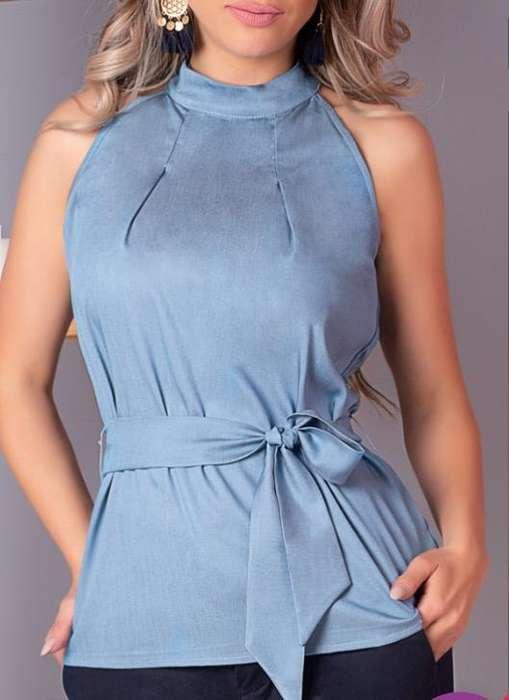 89f0c8515 Blusa Azul Claro