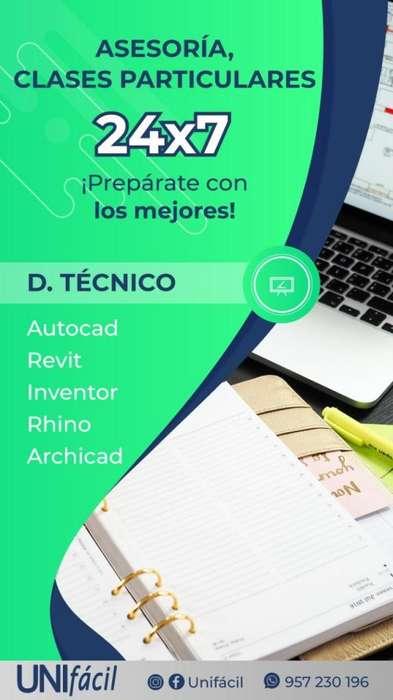 PROFESOR CLASES PARTICULARES Y CURSOS DE AUTOCAD INVENTOR 3DMAX REVIT LUMION SKETCHUP CIVIL3D DIBUJO TECNICO SOLIDWORKS