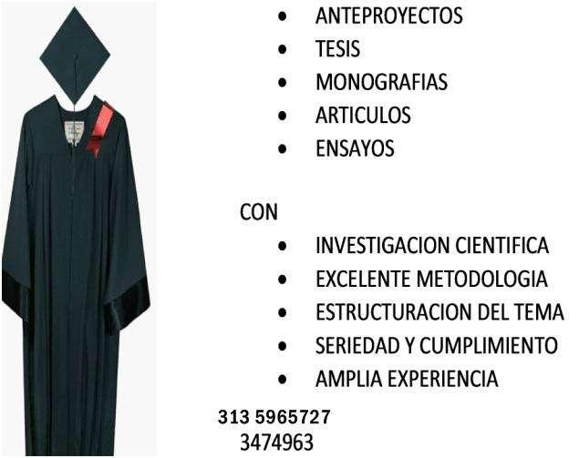 ORIENTACION E INVESTIGACION DE ARTICULOS Y TESIS. 347 49 63