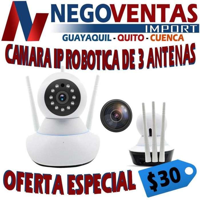 CAMARA IP ROBOTICA DE VIGILANCIA 360 GRADOS DE 3 ANTENAS FULL DH