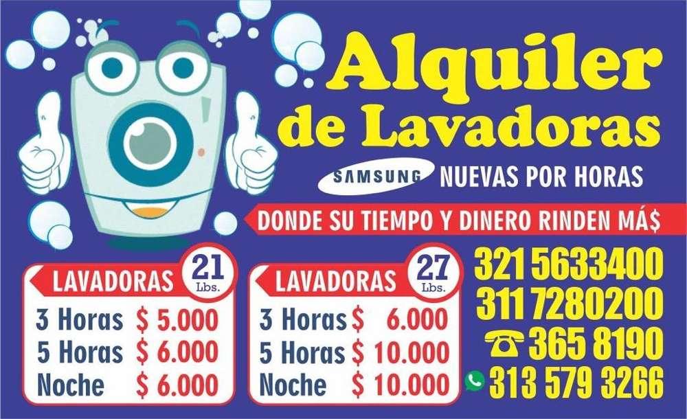 ALQUILER DE LAVADORAS SAMSUNG COMO NUEVA