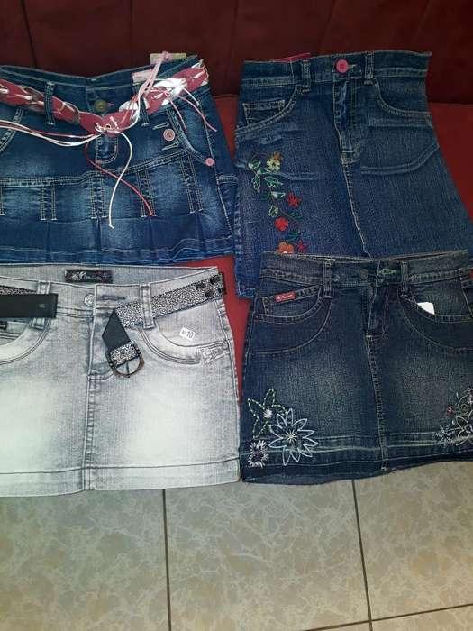 Vendo Minifaldas de Jean para Niñas .