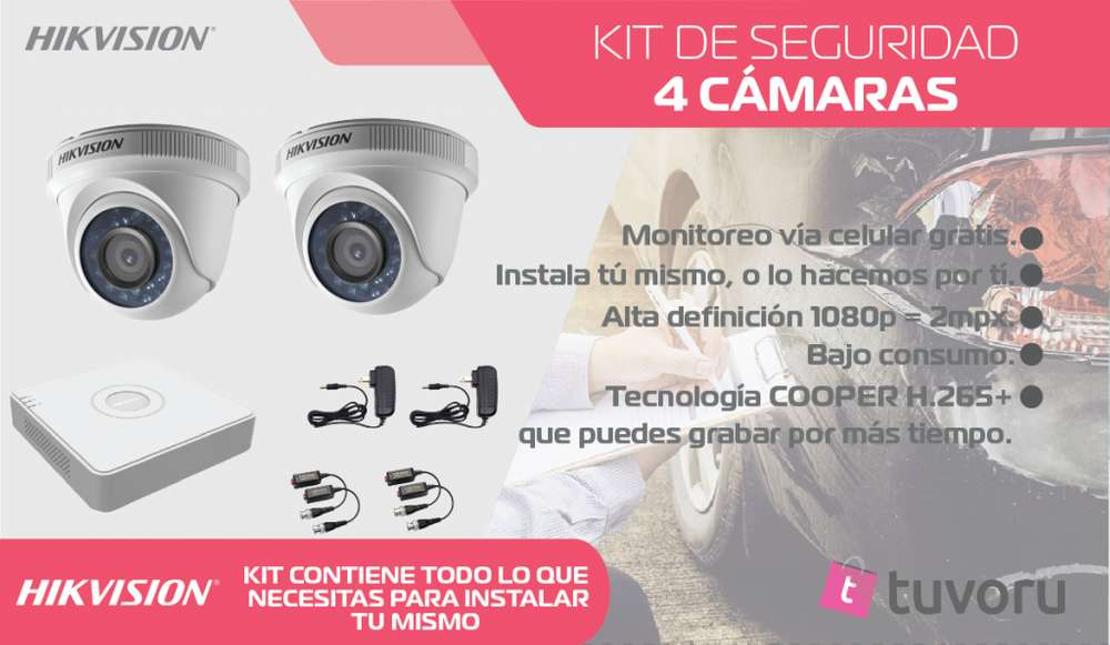 KIT de 2 camaras de seguridad HD 720p
