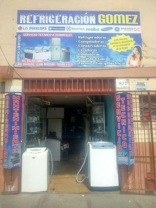 reparacion y mantenimiento de lavadoras refrigeradoras etc.