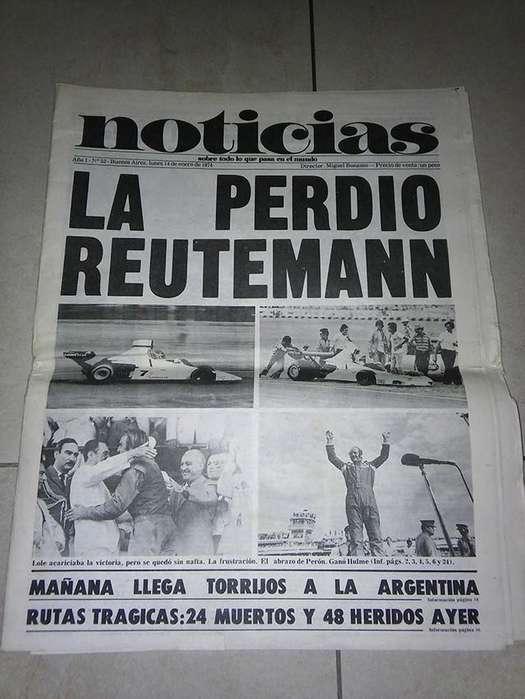 Antiguo ejemplar del diario Noticias, enero de 1974.