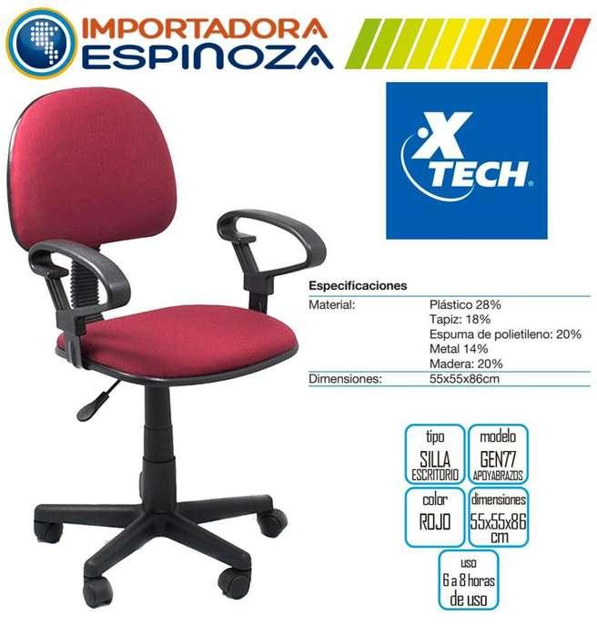 Silla Giratoria Oficinas Escritorios Con Apoya Brazo <strong>sillas</strong> Rojo