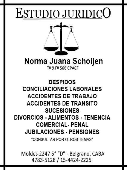ESTUDIO JURIDICO DRA NORMA J SCHOIJEN