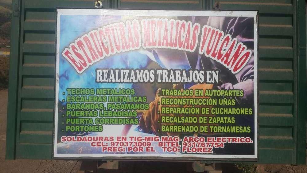 Serv D Soldaduras Vulcano Cel: 931767754