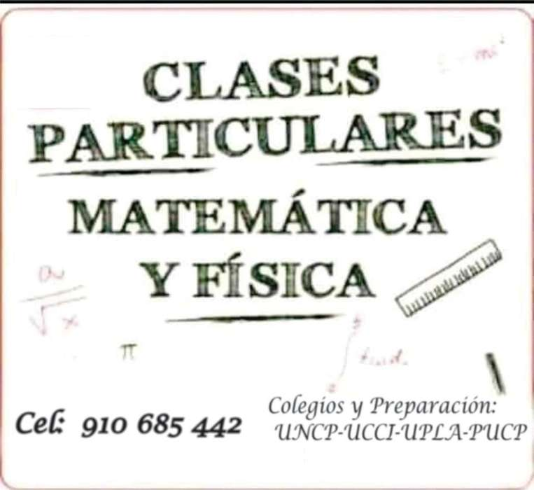 Clases Personalizadas de Matemática y Física