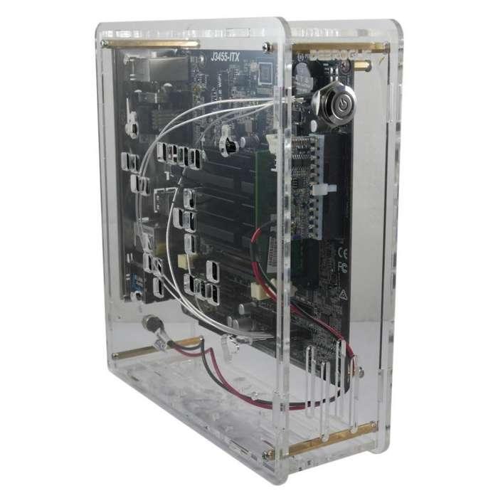 Mini PC de acrilico transparente Intel J3455 Quadcore