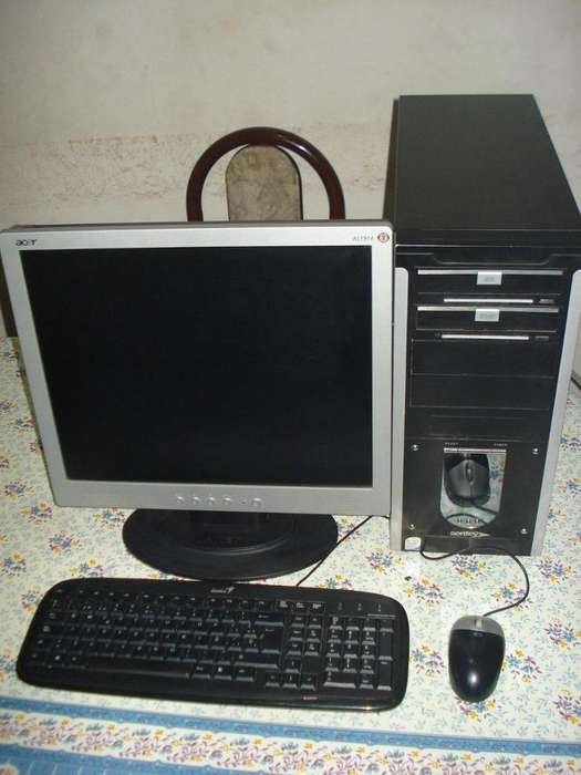 VENDO:Computadora Core 2 Duo Con monitor Lcd 19 Acer impecable estado