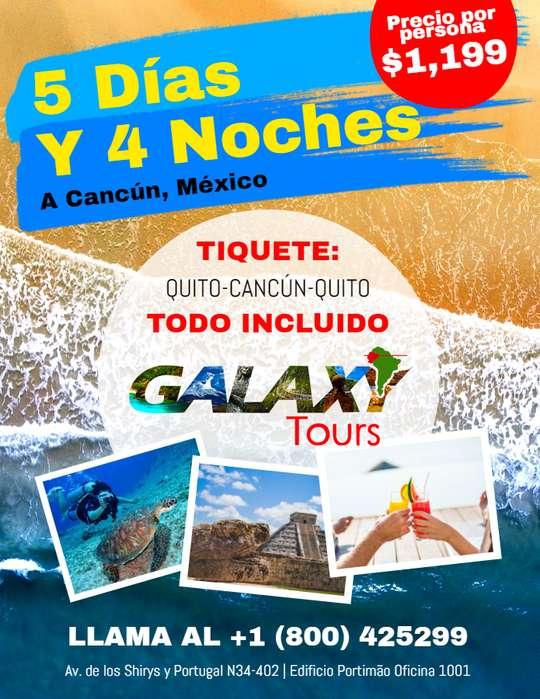 5 Días y 4 Noches en Cancún ¡TODO INCLUIDO!
