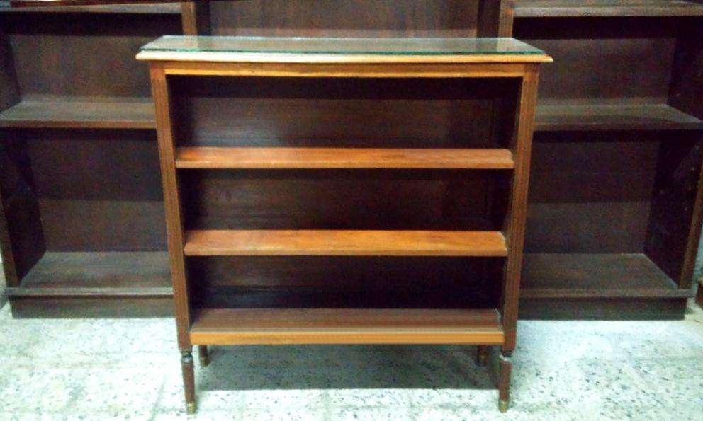 * Excelente Biblioteca Inglesa Petit Maciza Estante Repisa