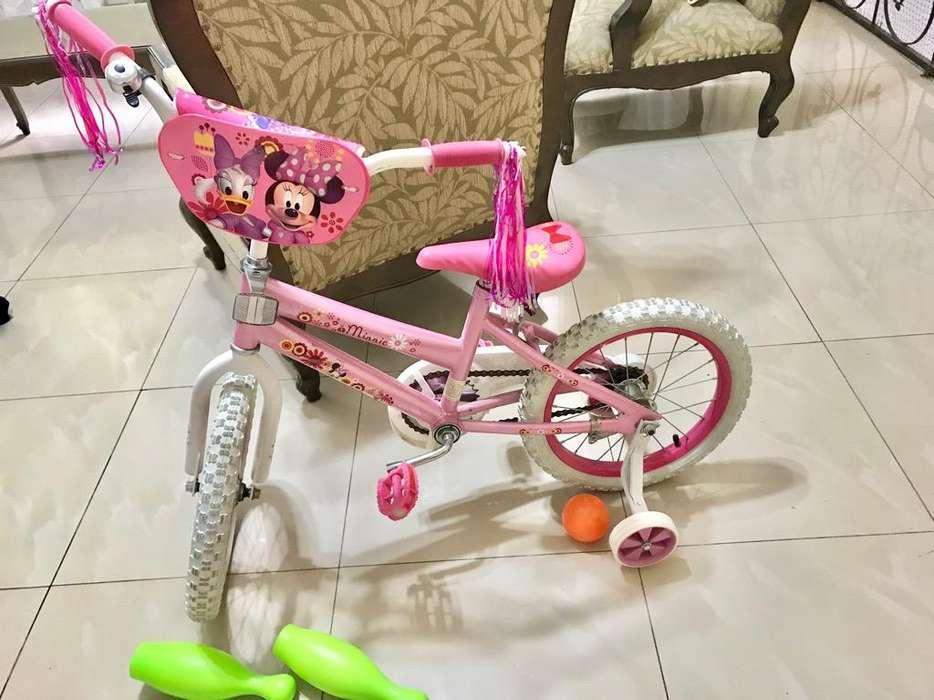 <strong>bicicleta</strong> NUEVA con Rueditas Niña
