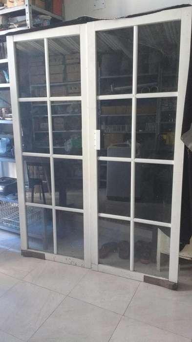 Puertas de vaiven Aluminio Blanco