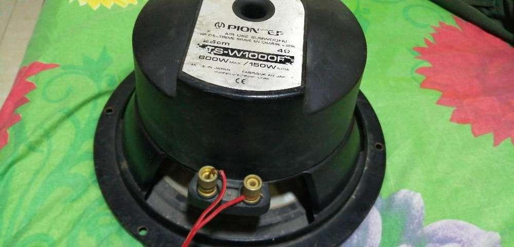 Bajos 10 Pulgadas Pionner 600/watss