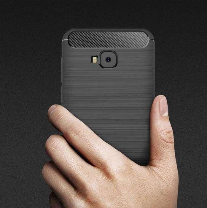 Carcasa Zenfone 4 Selfie Pro Zd552kl Forro Fibra De Carbono