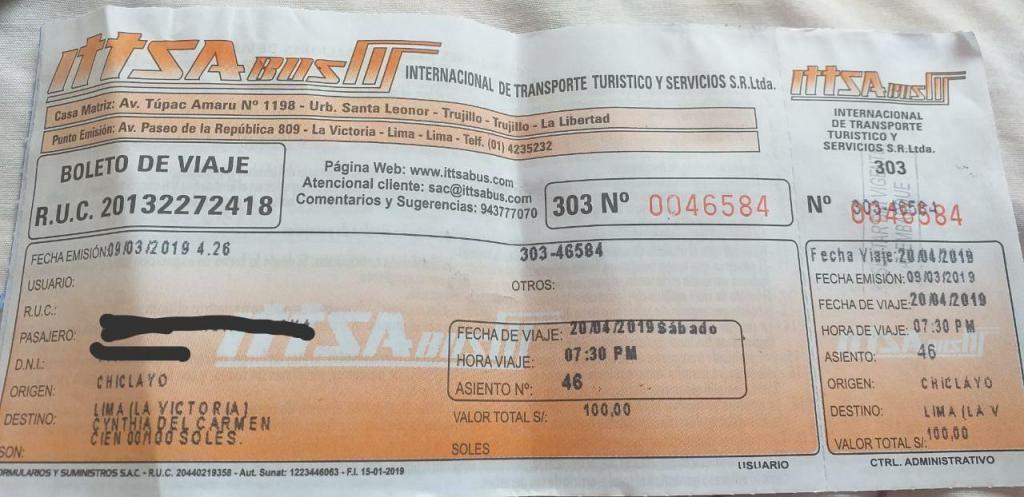 Pasajes de ida y vuelta en bus a Chiclayo  Semana Santa