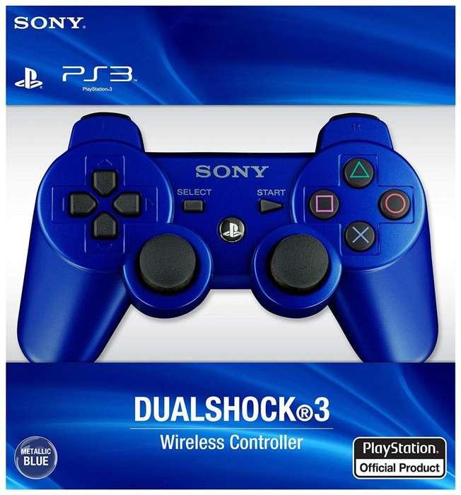 Control Play Station 3 Azul Original Usado