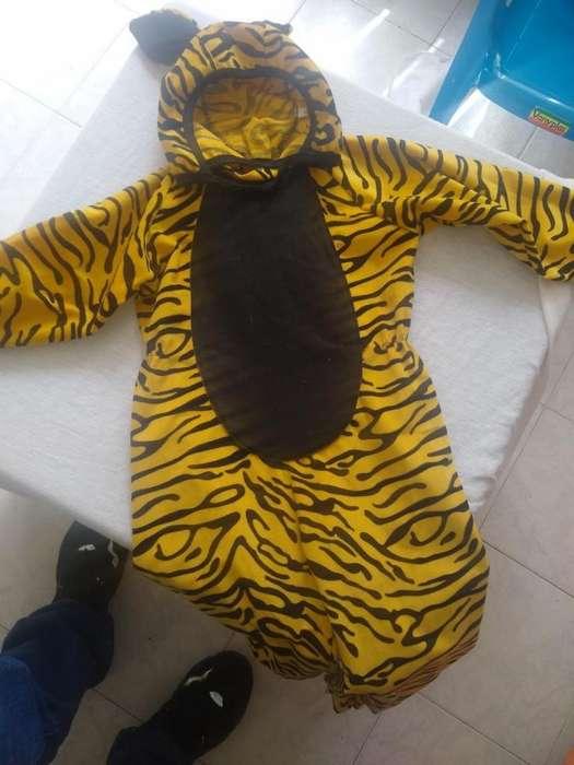 Se vende disfraz de tigre para niño