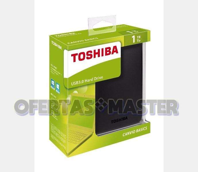 Disco Duro Toshiba 1TB Externo portable 2.5pulg. Usb 3.0