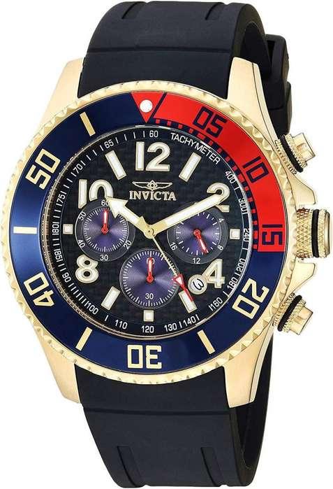 Reloj Hombre Invicta Pro Driver Dorado Bisel Pepsi 29713