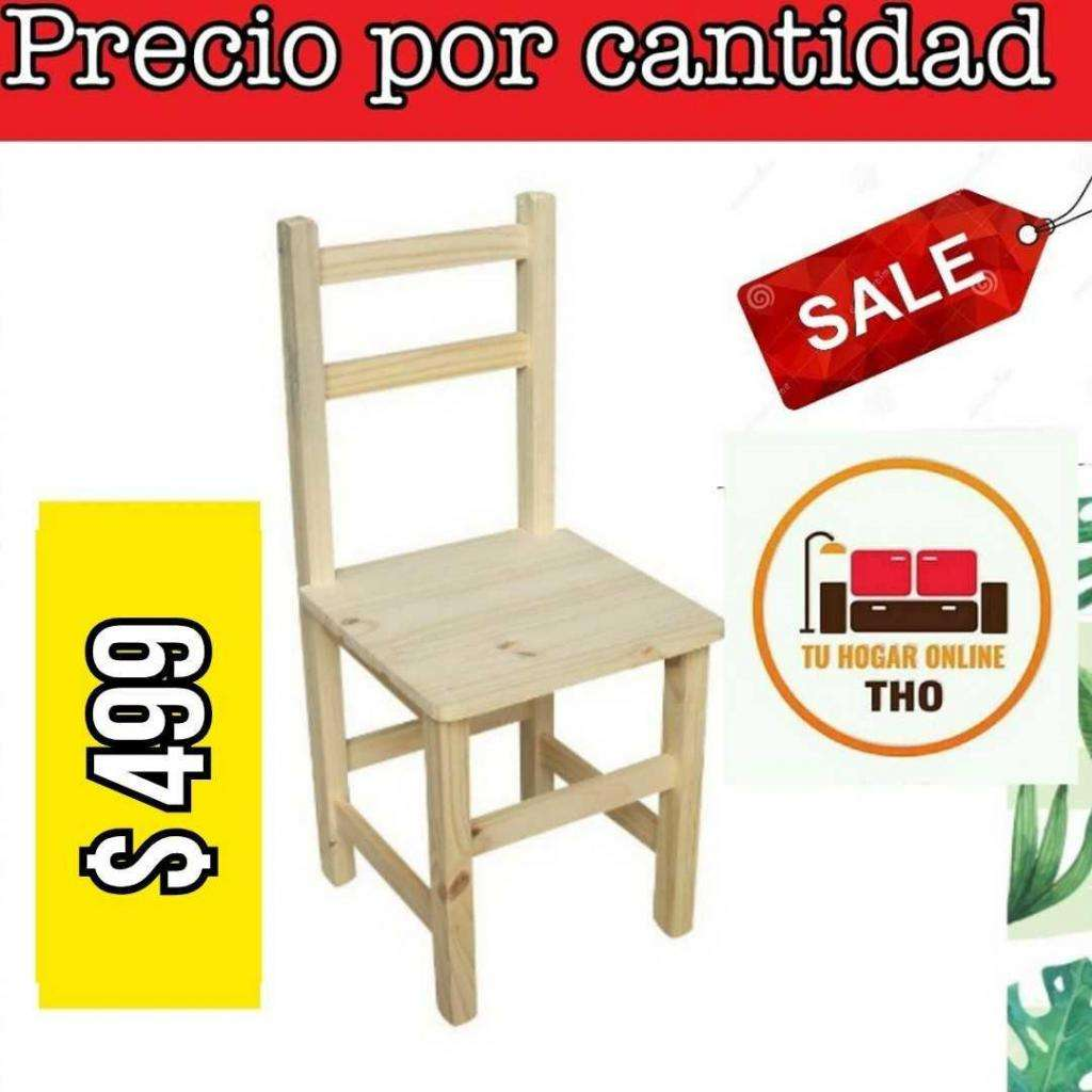 Silla de Pino Eco sin pintar // Tu Hogar Online
