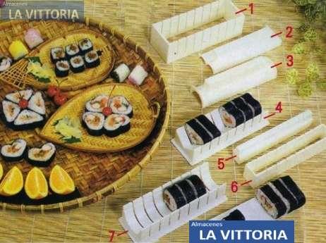 Moldes Para Rollos de Sushi Varios Diseños
