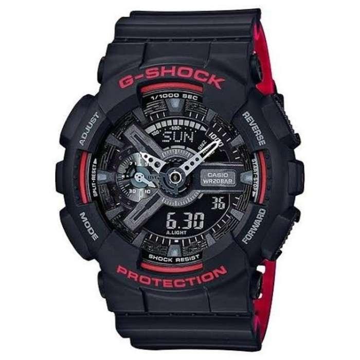 Casio Gshock Negro Y Rojo Nuevo