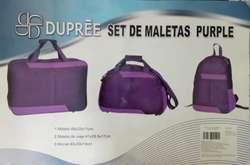 Set de maletas color morado