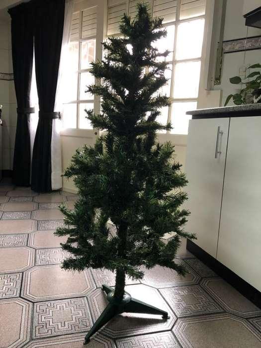 Arbol Navidad Adornos Luces Pesebre
