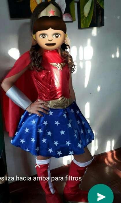 Disfraz Mujer Maravilla Talla 10