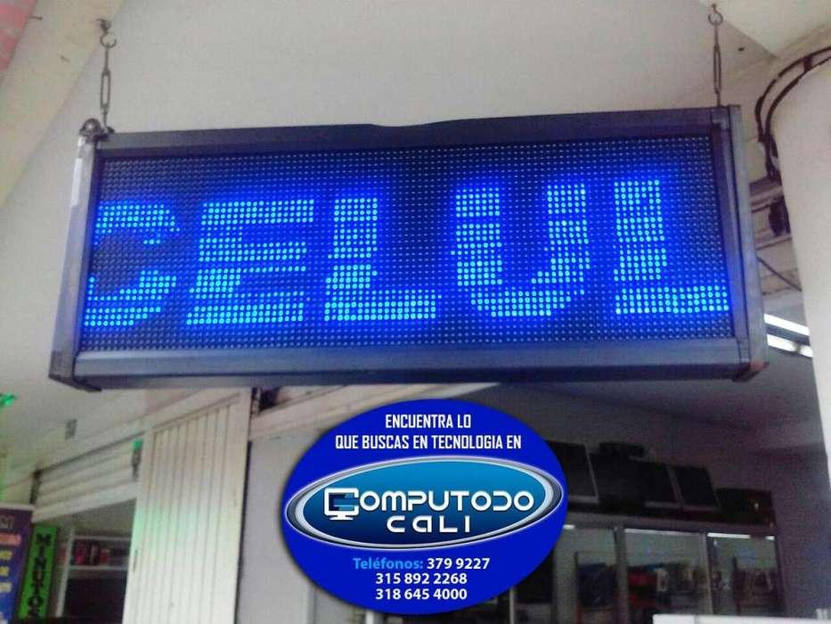 Aviso LED Publicitario Color Azul 168x40 usaDO