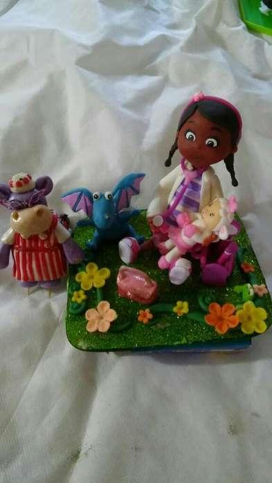 Doctora <strong>juguetes</strong> para Torta Porcelana