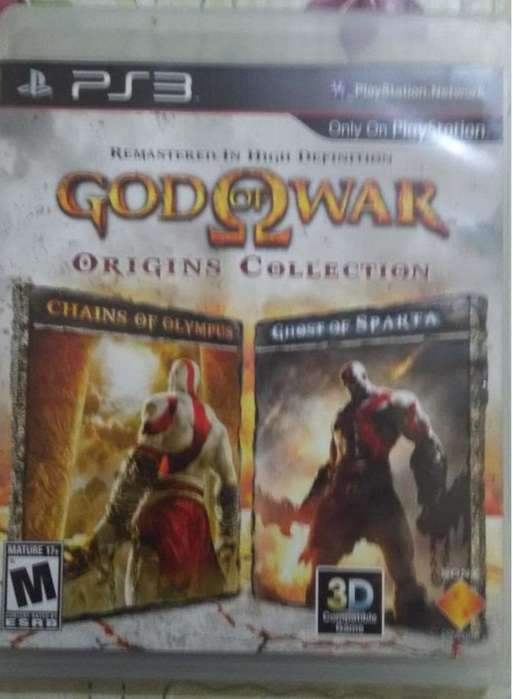 GOD OF WARS 2 EN 1 REMASTERIZACION