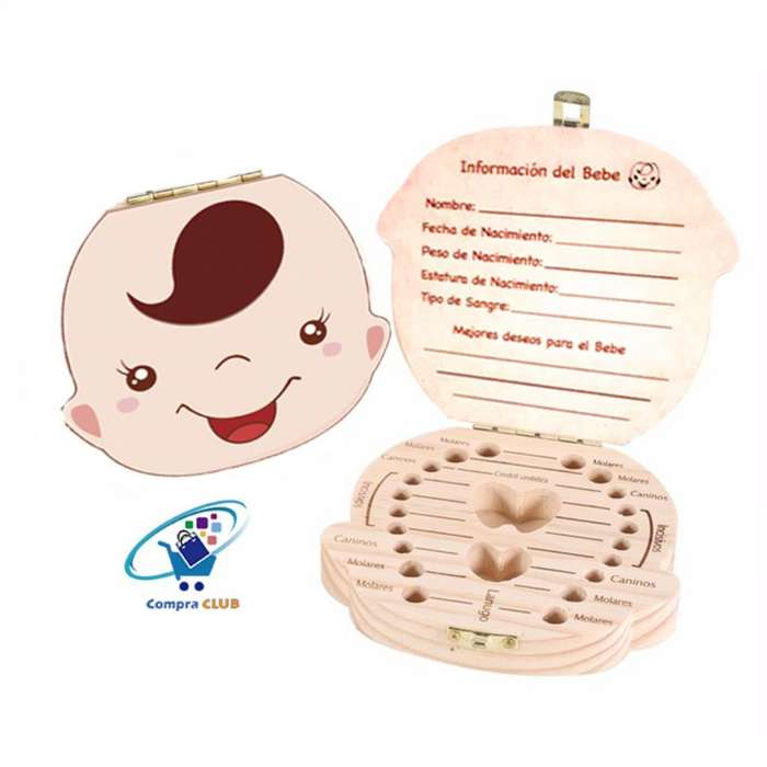 Caja de Dientes para Bebes Niños Recuerd