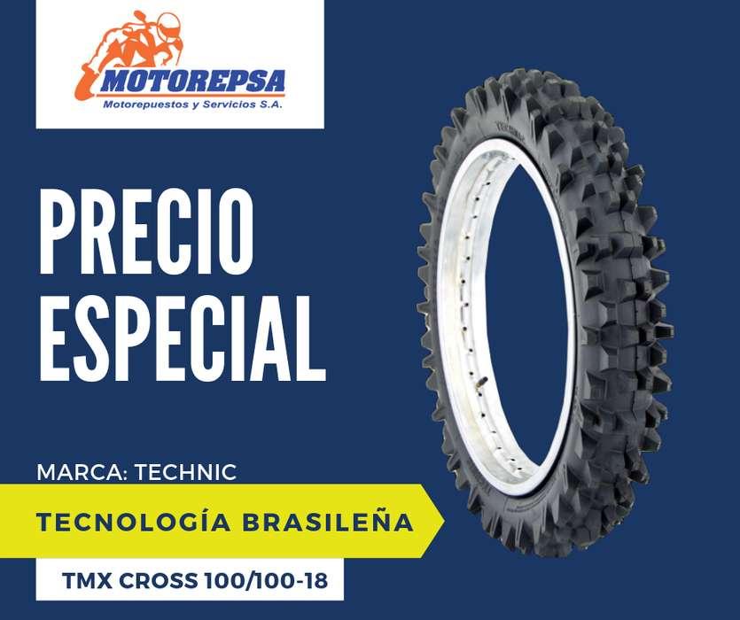 Llanta TECHNIC TMX CROSS 100/100 18 para Moto KTM EXC 380, SX 450, KX 250F/450F