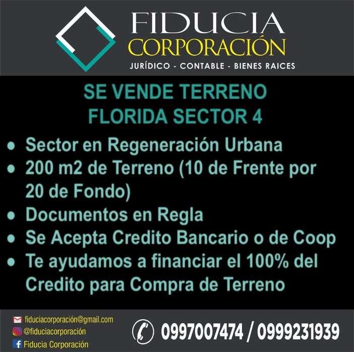 Terreno en Venta Florida Sector 4