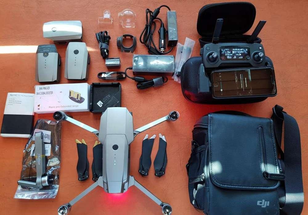 Drone DJI Mavic Pro Platinum - Perfecto estado. 4 Baterías. Filtros y hélices de repuesto.