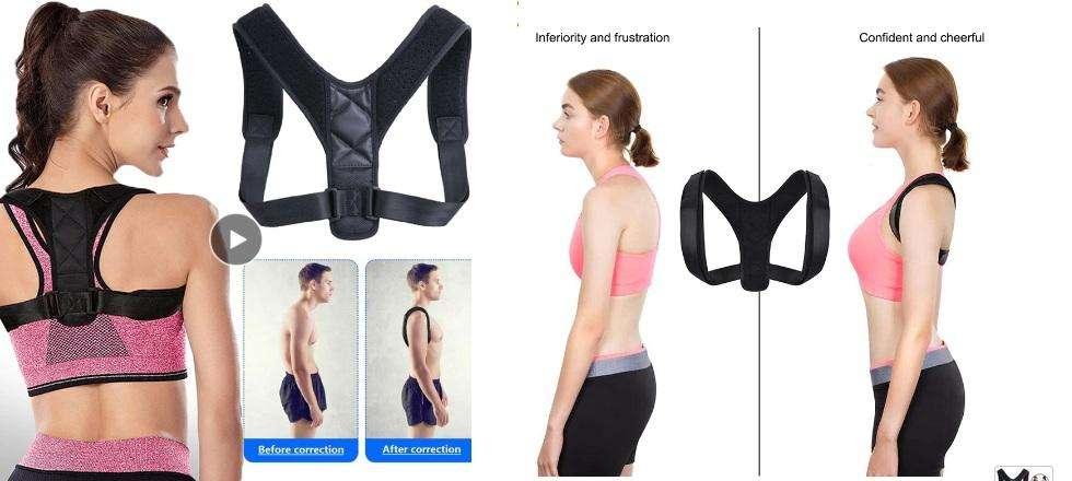 Corrector de postura en la espalda para hombres/mujeres Talla M