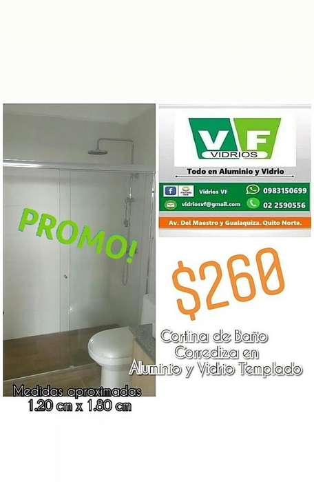 Cabinas - Cortinas de baño corrediza y batiente en Vidrio Templado / Acero Inoxidable / Aluminio Pulido / Acrilico