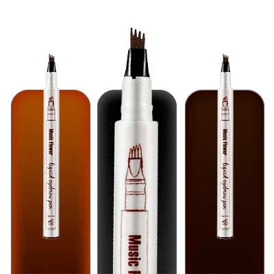 Lapiz Plumón De Cejas Microblading 3d Promoción Color Negro