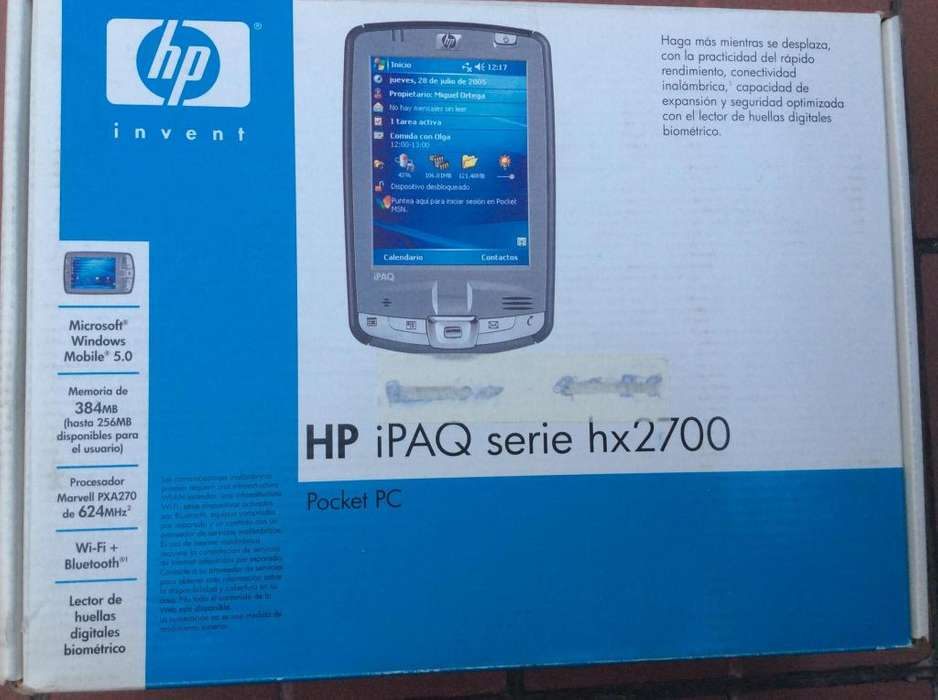 POCKET PC HP IPAQ SERIE HX2700