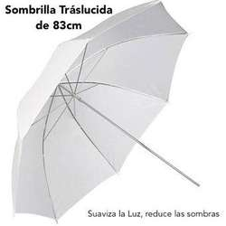 Sombrilla traslucida de tripode o parante