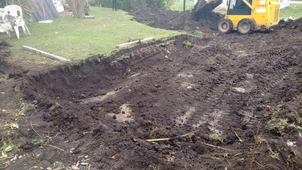 nivelaciones, excavaciones, piletas,tierra negra, tosca