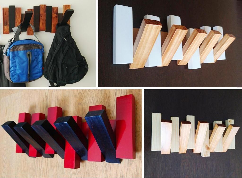 Perchero STICKS con piezas móviles, Modelo Exclusivo muy decorativo, colgador de ropa y bolsos.